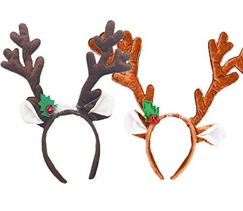 Hraindrop 2 Pieces Reindeer Antlers Headband Christmas]()