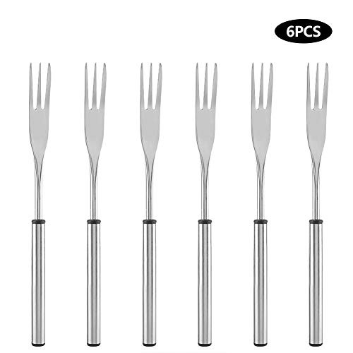 - Mumusuki 6 Pack Stainless Steel Hot Pot Fondue Fork Outdoor Picnic BBQ Grilling Skewer for Cheese Chocolate Fondue Roast Marshmallows Meat