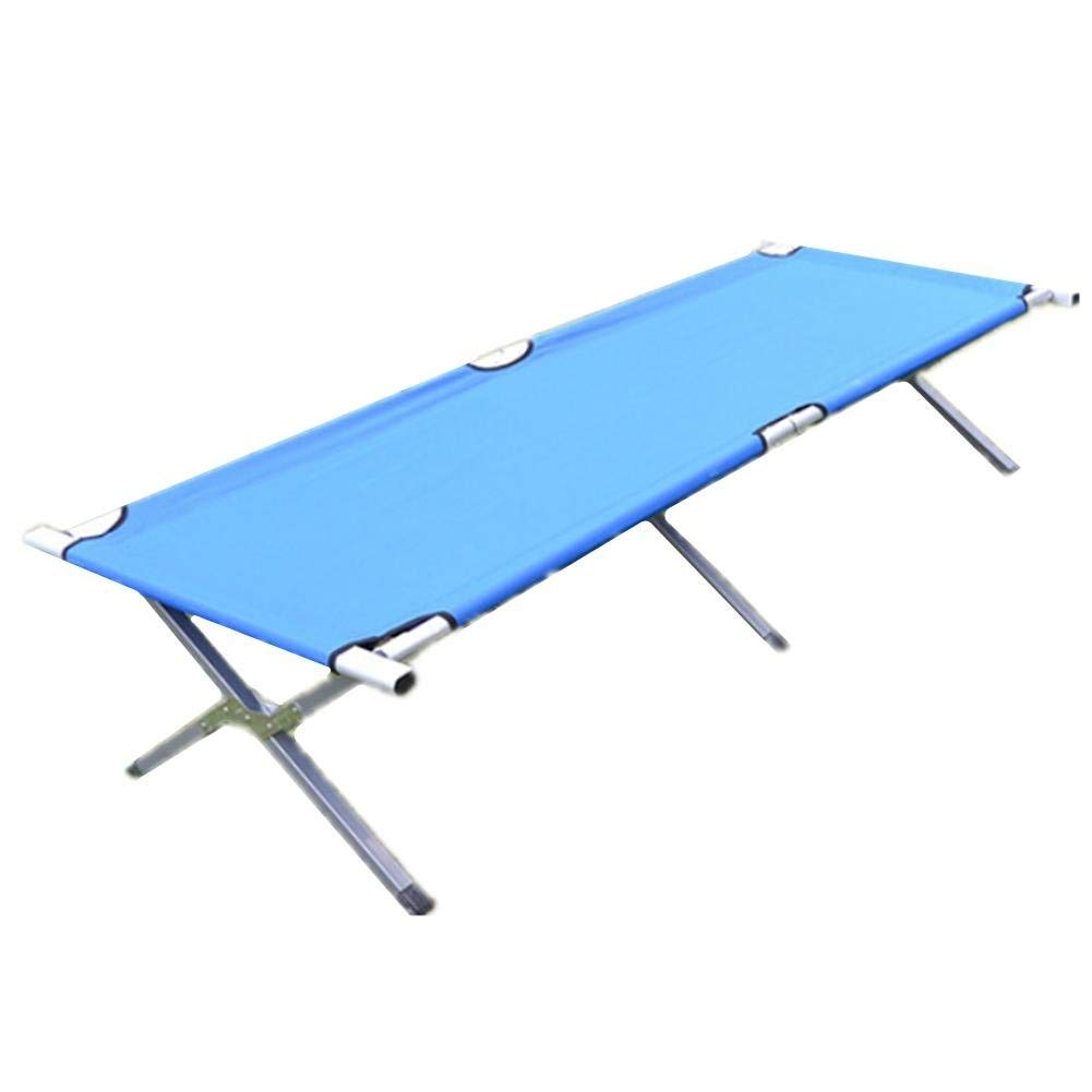 JaHGDU Outdoor Folding Stylish Solid Color Preferred Bed Beach Bed Lunch Sunbathing Wear-Resistant Oxford Cloth Bed (Color : 2)