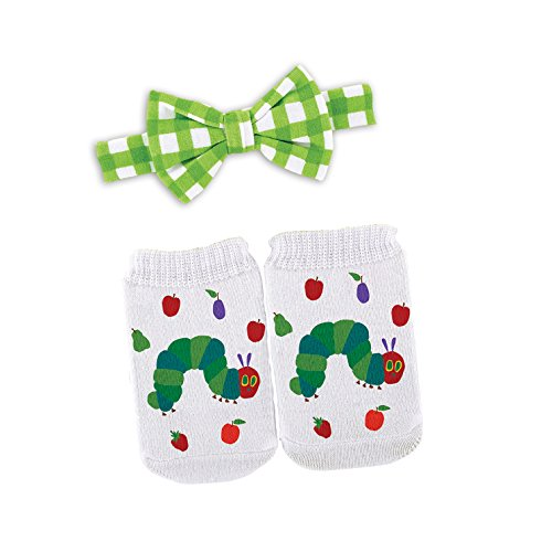 Stephan Baby Eric Carle The Very Hungry Caterpillar Bow Tie and Bootie Socks Gift Set, 3-12 Months]()