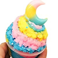 Clearance Sale!DEESEE(TM) Beautiful Moon Colorful Cloud Slime Putty Scented Stress Kids 60ml Clay Toy