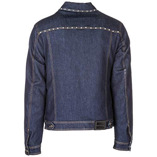 Chaqueta Tela Cazadoras BLU en Vaquera de Jeans Hombre Versace 5zwEnqvYv