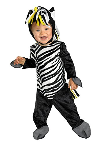 Baby Boy's Zany Zebra Outfit Animal Theme Infant Halloween Costume, 12-18M Black/White -