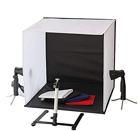 Portable 50 x 50 x 50 cm Camera Photo Studio Box Cube Tent Kit with 2 Light bulb & Tripod stand