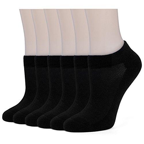 (Women's Low Cut Socks Athletic Running Cushion Short Cotton Ankle Socks Low Cut Socks (6 Pairs))