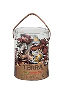 Battat Terra Wild Animals In Tube Action Figure Set