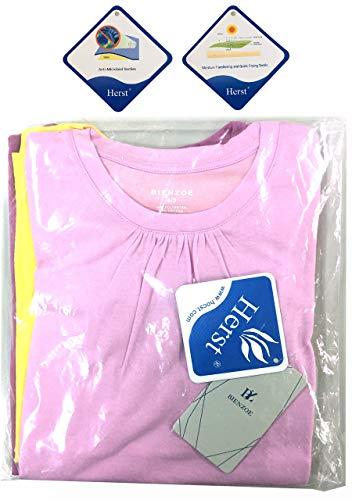 Bienzoe Girl's School Uniform Anti-Microbial Breathable Quick-Dry Short Sleeve Crew Neck T-Shirt PackC 6/6X by Bienzoe (Image #2)