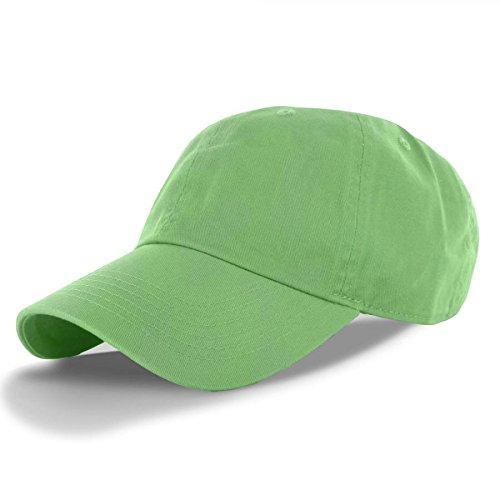 Lime-100% Cotton Adjustable Baseball Cap Hat Polo Style Washed Plain Solid Visor - Minnesota Twins Mouse