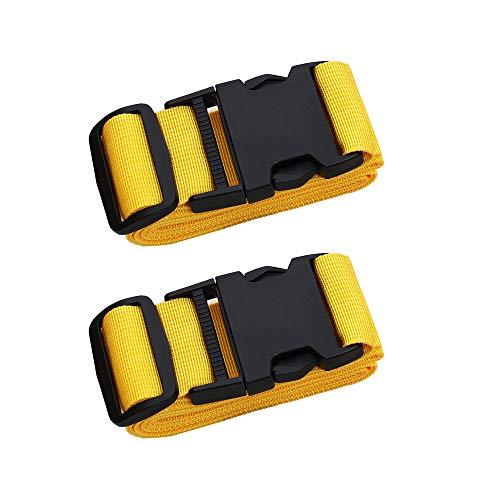 Luggage Belt - Adjustable Travel Luggage Strap, Nylon Suitcase Belt Luggage Tage Set to Keep Your Luggage Organized and Secure, 43