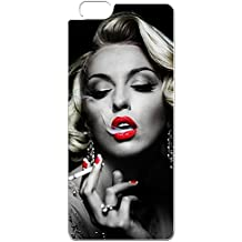 iPhone 6S Case Marilyn Monroe, Marilyn Monroe Smoking White Soft Rubber Silicone Scratch Proof Phone Case Cover Skin for iPhone 6 6S 4.7 Inch