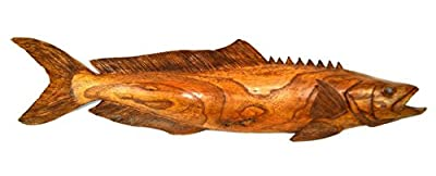 Huge Chainsaw Carved Wood Cobia Ocean Decoy Sport Fish