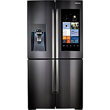 Samsung RF22K9581SG 22 Cu. Ft. Black Stainless 4 Door Family Hub Counter Depth Refrigerator
