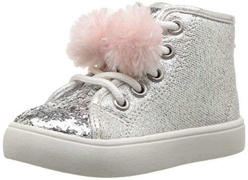 Picture of carter's Girls' Christa  Sneaker, Silver, 11 M US Little Kid