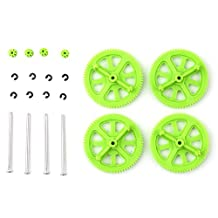 Dimart Upgrade Motor Pinion Gear Gears&Shaft Replacement For Parrot Ar Drone 1.0 2.0(Green)