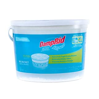 DampRid Fragrance Free. Hi-Capacity Bucket-Moisture Absorber for Fresher, Cleaner Air in Large Spaces, 2.5 Pound, white
