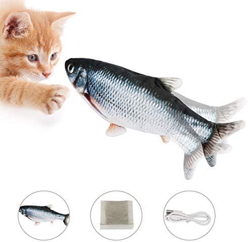 Best Fire 猫おもちゃ 魚ぬいぐるみ キャットミント 噛むおもちゃ 爪磨き 猫トイ またたびトイ運動不足 肥満解消 ストレス解消 28cm