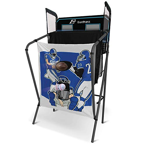 41o5Iya116L - EastPoint Sports 3-in-1 Shoot, Pitch, Pass Sports Gaming Center Station for Kids