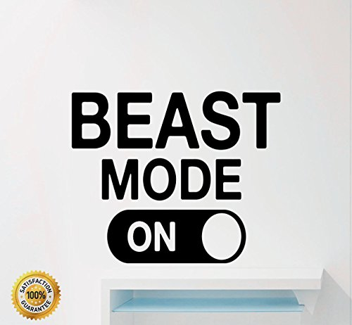 (Ditooms Fitness Motivational Wall Decals Quotes Beast Mode Gym Sport Inspirational Home Decor Art Vinyl Wall Stickers)