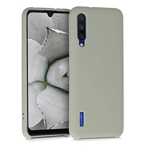 kwmobile TPU Silicone Case Compatible with Xiaomi Mi A3 / CC9e - Soft Flexible Rubber Protective Cover - Gray Green