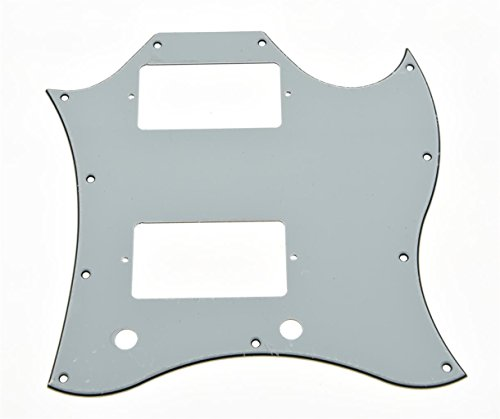 - KAISH American Standard SG Guitar Full Face Pickguard fits USA Gibson SG Special Guitar White 3 Ply