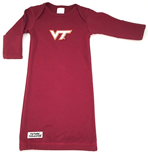 Layette Apparel (Future Tailgater Virginia Tech Hokies Baby Layette Gown)