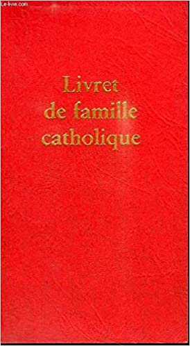 Livret De Famille Catholique 9782204082235 Amazon Com Books