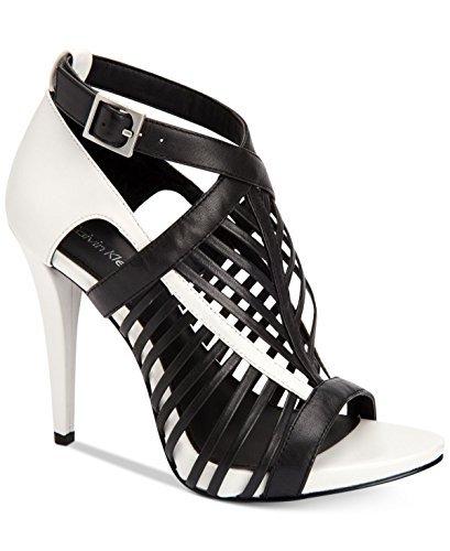 platinum White Naida Calvin Leather Black À Chaussures Talons Femmes black Klein rFEvqEw80