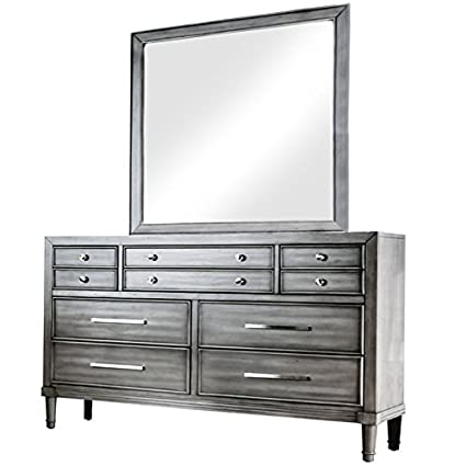 Amazoncom Furniture Of America Illy 8 Drawer Dresser And Mirror