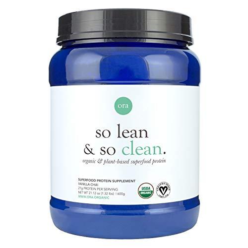 Ora Organic Vegan Protein Powder - Delicious Plant-Based Protein, 21g of Clean Lean Protein (20 Servings), Natural Vanilla Chai Flavor & No Added Sugar, Gluten-Free, Dairy-Free, Soy-Free & Non-GMO