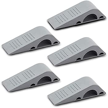 Black 4-pack Rubber Door Stopper Multi Surface Door Stop Wedge Holder Esmartlife