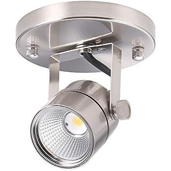 Amazon Com Progress Lighting P6147 09 1 Light Round Back Ceiling Mount Directional Brushed