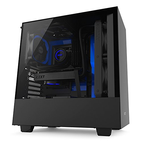 NZXT H500 ATX Computer Case, CA-H500B-BL, Black/Blue