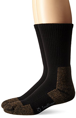 Fox River Heavyweight Steel-Toe Crew Cut Socks (2 Pack), Large, Black (Winter Toe Socks)