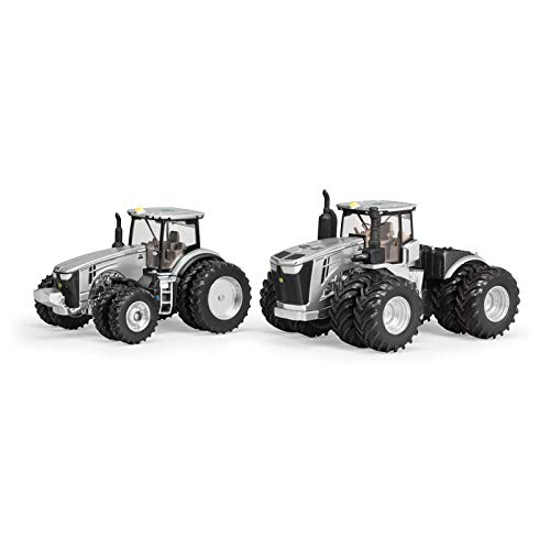 (John Deere 1/64 Limited Edition 100 Years Silver and Black 9570R and 8400R Two Piece Set )