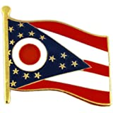 "Ohio State Flag OH Lapel Pin 1"""