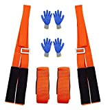 Lifting and Moving Straps Adjustable Shoulder Lifting Carrying and Moving Straps 2 Person to Easy Carry Furniture,Heavy,Bulky Objects Safely