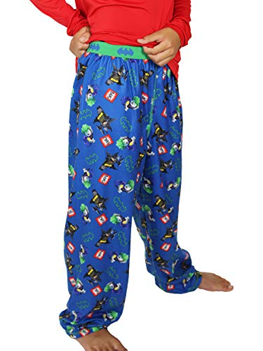 (LEGO Batman Boys Flannel Lounge Pajama Pants (14-16, Blue))