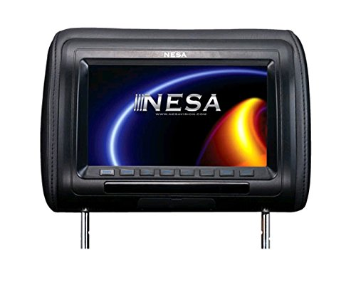 "NESA 9"" Preloaded Universal Headrest Monitor with built-in HDMI/USB/Mobile Hi-Definition (3-Interchangeable Skins: Beige/Black/Gray)"