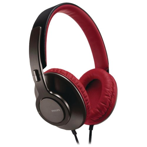Philips SHL5800/28 Headband Headphones (Red/Black) (Discontinued by Manufacturer) by Philips