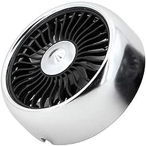 ODIN - تدفئة ومروحة - مروحة USB صيفية للسيارة 3 سرعات ضبط الرياح مكيف هواء منفذ وحدة تحكم مركزية كهربائية مروحة إضاءة محيطة (فضي)