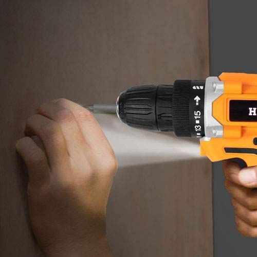 Mini Cordless Screwdriver, Rechargeable Lithium Battery Hand drill, Waterproof Electric Screwdriver Set Household Tools 16.8V