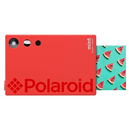 دوربین دیجیتال چاپ فوری (Polaroid Mint) از طریق مسنجر (قرمز) ، چاپ روی کاغذ عکس پشتیبان از Zink 2x3