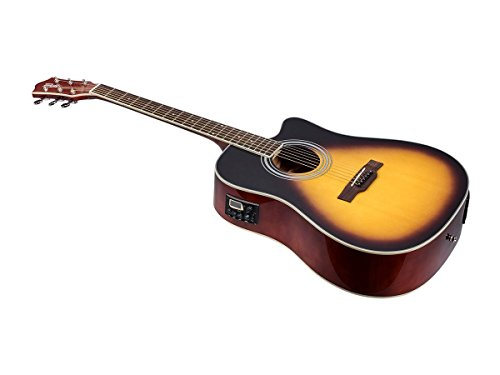 Idyllwild Foothill Acoustic Electric Guitar with Tuner, Pickup & Gig Bag, Vintage Sunburst (610063)