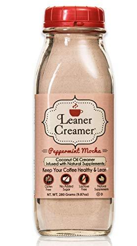 (Leaner Creamer- Coffee Creamer Powder: Keto| Non-Dairy| Paleo| Sugar Free- Peppermint Mocha (280g))