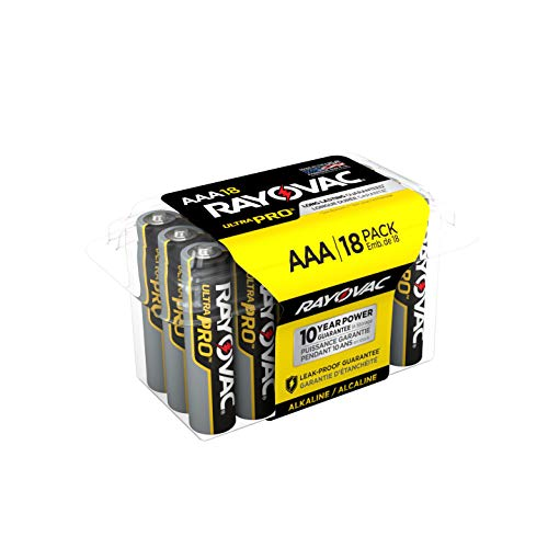 (Rayovac AAA Batteries, Ultra Pro Alkaline AAA Cell Batteries (18 Battery Count))