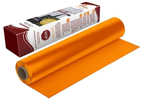 Firefly Craft Regular Light Orange Heat Transfer Vinyl | Light Orange HTV Vinyl | Light Orange Iron On Vinyl for Cricut and Silhouette | Heat Press Vinyl for Shirts - 12 x 20