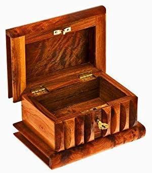 Caja mágica grande de Madera tuya marroquí longitud 15 ancho 10 altura 8 cm: Amazon.es: Hogar