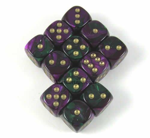 オリジナル Green Purple Gemini with Gold Pips Pips 12mm D6 Gemini B00IW61LCU Dice Set of 12 Wondertrail WCX26834E12 B00IW61LCU, 一等米専門店 江戸の米蔵:da4012f0 --- ballyshannonshow.com