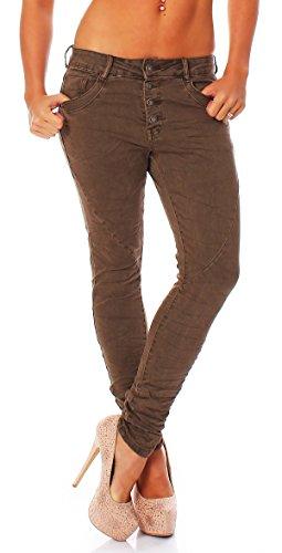 Vaqueros Caqui Baggy Boyfriend Jeans Pantalones 616 Botones Matyfashion Tubo Cn8qw4xUz5