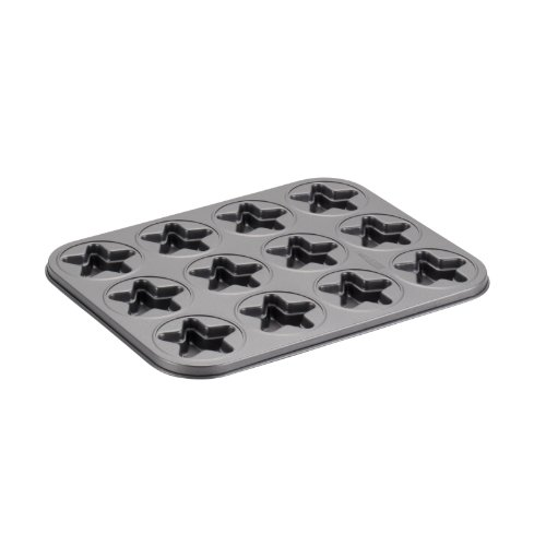 Cake Boss Carbon Steel 12 Cup Molded Cookie Pan Star